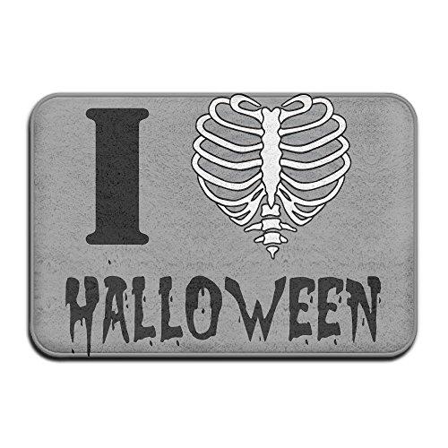utdoor Innen Skelett Brustkorb I Love Herz halloweenpersonalized Tür matsmonogram Fußmatte (Billig Skelette Für Halloween)