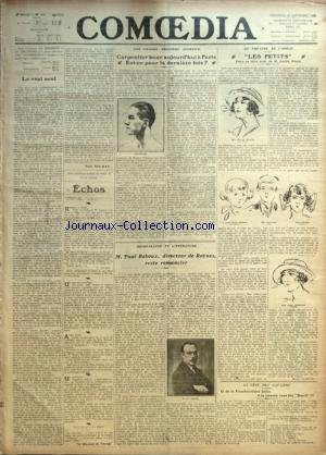 COMOEDIA [No 3570] du 24/09/1922