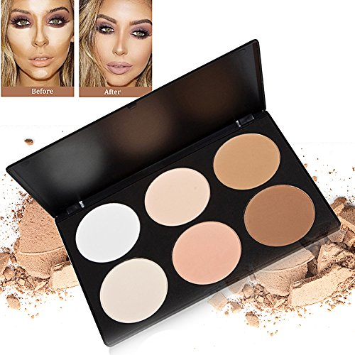 Contour Palette,6 Colour Professional Multi Make-up Concealer Contour Powder Palette,Gesicht Foundation Highlighters Contouring Makeup Set Highlight Und Kontur-make-up-set