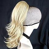 New Blond mix Pferdeschwanz Haar Stick Clip Extension Haarteil gewellt