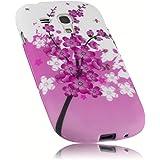 mumbi TPU Silikon Schutzhülle Samsung Galaxy S3 mini Hülle rosa Kirschblüten Blumen