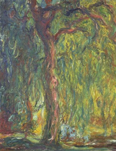 Wald-sauce (Weeping willow, Claude Monet. Graph paper journal: 150 pages,  8.5 x 11 inches (21.59 x 27.94 centimeters), diary, composition book. Laminated.)