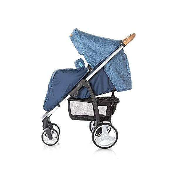 Chipolino Baby Stroller and Carry Cot Avenue, Navy Chipolino Can also be transformed into a carry cot Comfortable upholstered carrycot with mattress and carry handle Single front swivel lockable wheels 6
