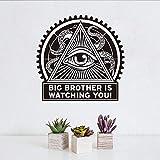 PAWANG Big Brother passt auf Sie Lertters Retro Wandaufkleber Selbstklebende billige Wasserdichte Tapete für Wohnzimmerdekoration
