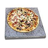 2 Piedras volcánicas auténticas para Pizza y barbacoas. Ideal para Pan, Pizzas, Carnes, Pescados.