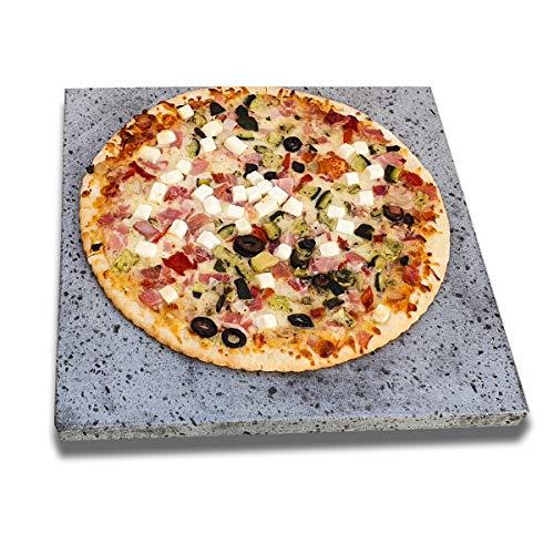 2 Piedras volcánicas auténticas para Pizza y barbacoas. Ideal para Pan, Pizzas,...