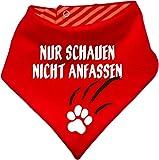 Hunde Wende- Halstuch (Fb: rot-orange) (Gr.1 - HU bis 29 cm) Nur schauen nicht anfassen