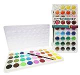 Mont Marte Wasserfarben Set - 36 brilliante Farben - Hohe