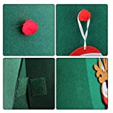 Beetest Diy Christmas Tree for Children, 3D DIY Felt Christmas Tree with 18pcs Toddler Friendly Christmas Tree Hanging Ornaments for Kids Xmas Gifts Christmas Home Decorations Bild 4