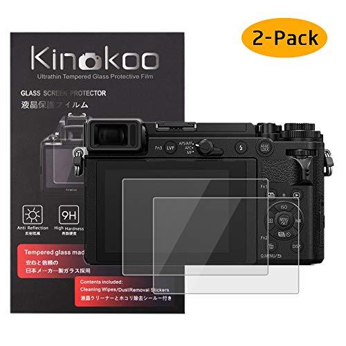 kinokoo Film de Verre trempé pour Panasonic GX9/GX7 Mark II Film de Protection d'écran Crystal Clear Panasonic GX9 GX7 II sans Bulles/Anti-Rayures (Paquet de 2)