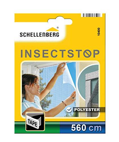 Schellenberg 10400 Nastro di Fissaggio Trasparente per zanzariere in Poliestere (5,6 m), Transparent