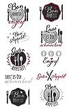 AVERY Zweckform 56044 (Deko Sticker, Guten Appetit, 10 Aufkleber)