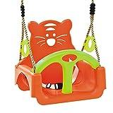 WICKEY Babyschaukel TRIX verstellbarer Babysitz Kinderschaukel, 3-teilig, 300x390X385mm, orange-grün