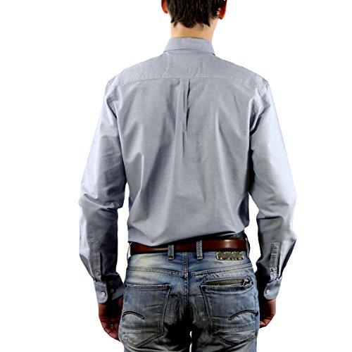 CR7 CRISTIANO RONALDO Herren Hemd CR7 Shirt Classic fit Grey