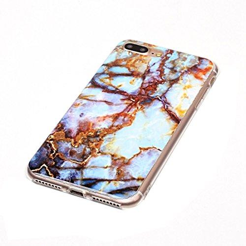 Hülle für iPhone 7 plus , Schutzhülle Für iPhone7 Plus Blue Marmor Muster Soft TPU Schutzhülle ,hülle für iPhone 7 plus , case for iphone 7 plus ( SKU : Ip7p1209f ) Ip7p1209b