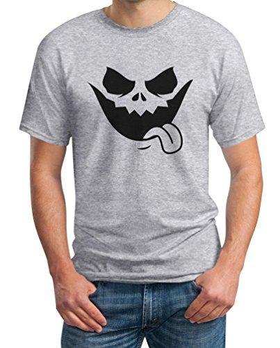Halloween Jack O' Lantern Kürbis Gesicht T-Shirt Large (Kostüme Jack Shirt O T Lantern)