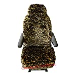 Carseatcover-UK Pair MOTORHOME Seat Covers in Faux Fur [CHOICE OF 10 FABRICS][PLAIN BLACK]