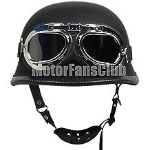 Amazon casque allemand casque moto bol vintage noir mat avec lunettes de style harley altavistaventures Image collections