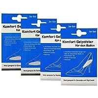 COM-FOUR® 8er Set Komfort Gelpolster Geleinlagepads für Ballen und Ferse - ideal für Sandalen und High Heels preisvergleich bei billige-tabletten.eu