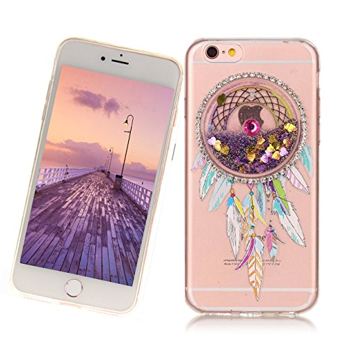Custodia per Apple iphone 6,Custodia per Apple iphone 6S,Haikingmoon trasparente Sparkle Brillantini gel silicone protettiva Cover per Apple iPhone 6 / 6S (4,7 Pollice) - Viola Viola