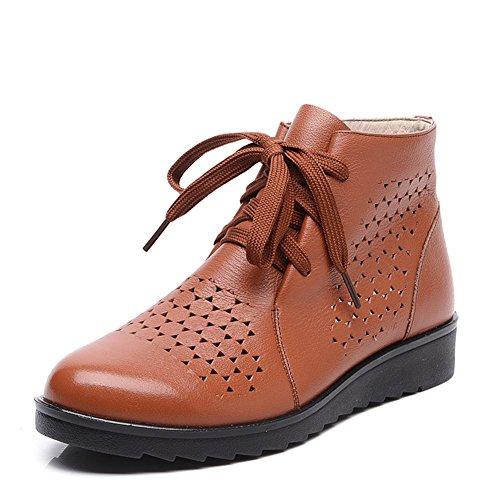 Bottes cool creux au printemps et en été/Bottes de maman orifice de ventilation fond mou/Middle et sandales de femmes d'âge vieux B