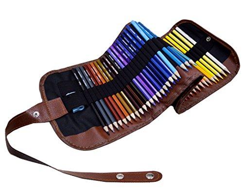 AiSi 50 Farben Buntstifte Set,professionelle Künstler Farbstifte, 50er Set Farbstifte mit Leinwand...