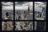 empireposter - New York - Skyline Window - Größe (cm),