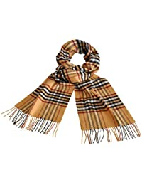 Toutacoo, Camel Coloured Tartan Scarf