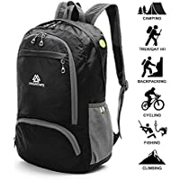 Loocower Lightweight Hiking Travel Backpack, 35L Packable Ultralight Rucksack Daypack, Water-Resistant Foldable Camping Outdoor Backpack for Travelling