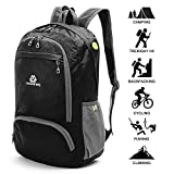 Loocower Lightweight Hiking Travel Backpack, 35L Packable Ultralight Backpack Daypack, Water-Resistant Foldable Camping