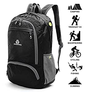 51mO2x8ZsDL. SS300  - Loocower Lightweight Hiking Travel Backpack, 30L Packable Ultralight Backpack Daypack, Water-Resistant Foldable Camping Outdoor Backpack for Travelling