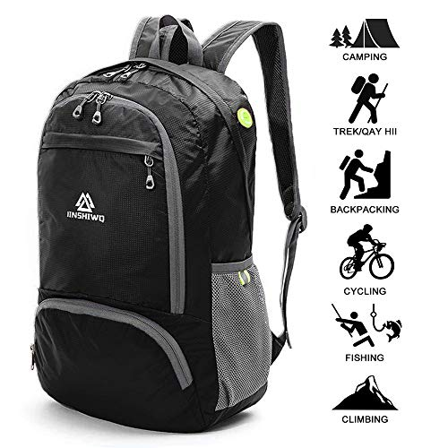 Loocower Utra Leicht Packable Reiserucksack Wanderrucksack Tagesrucksack, 30L Faltbare Camping Rucksack, Leichte Outdoor Sport Rucksack