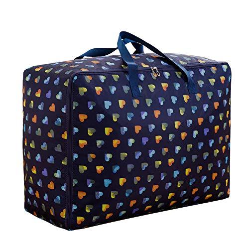 PGYZ dickes Oxford Tuch tragbare Quilt Tasche Quilt Aufbewahrungstasche versteckt grünes Herz 60x50x25cm (Kunststoff-twin-bett-decke)