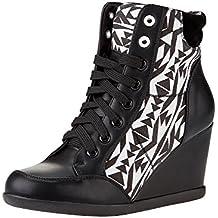 oodji Ultra Mujer Zapatos Sneakers de Piel Sintética