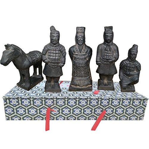 "Romancemit Terrakotta-Krieger-Set, China Terra Cotta Krieger Armee Terrakotta-Krieger Figur, 4,7\""groß"