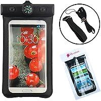 Ancerson Schwimmen Wasserdicht Schutzhülle Wasserfest Beutel Tasche Case HülleSchalen mit Kompass Für iPhone 4 4s 5 5c 5s 6 6 Plus /Samsung Galaxy S4 I9500 / S5 I9600 / S3 I9300 / Note 2 N7100/ Note 3 N9000/ LG G3/ LG G2/LG Optimus G Pro E980 F240 E986 F240k, Huawei Ascend P6/ HTC one M8 M7/ Sony Xperia Z L36h/ Z1 L39h/Z2/ Z3 und andere Smartphones, die kleiner als Samsung Galaxy Note 3
