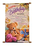 Saugat Traders Happy Birthday Scroll Card for Best Friend, Girls,Sister, Wife or Husband