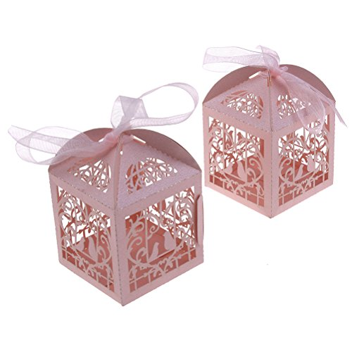 n Hochzeit Süßigkeiten Love Bird Hochzeit Favor Candy Geschenke Kästchen Candy für Hochzeit, Party, Geburtstag rose (40 Geburtstag Gefälligkeiten)