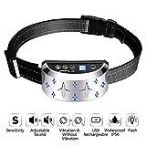 A+Trainer Collar Antiladridos Recargable para Perros, Collar Adiestramiento Ajustable para Perros 7 Niveles de Vibración Progresivos, Resistente al Agua