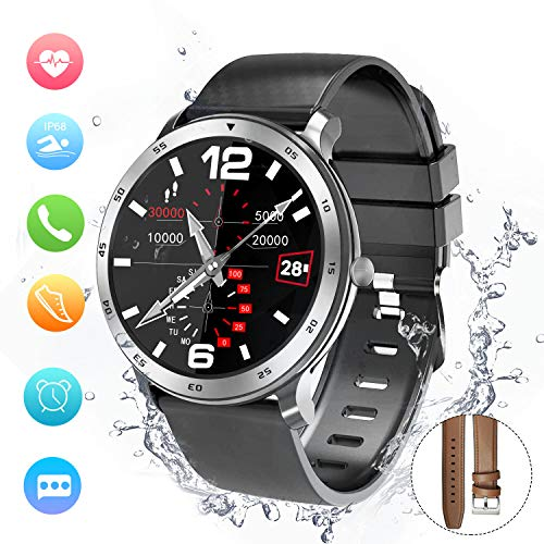 Smart Watch, Fitness Tracker, Activity Tracker, Support Calling, Notification, Sleep/Heart Rate Monitor,Blood Pressure, Remote Shot/Stopwatch/Anti-Lost Compatible with Android and IOS. (48mm-A)