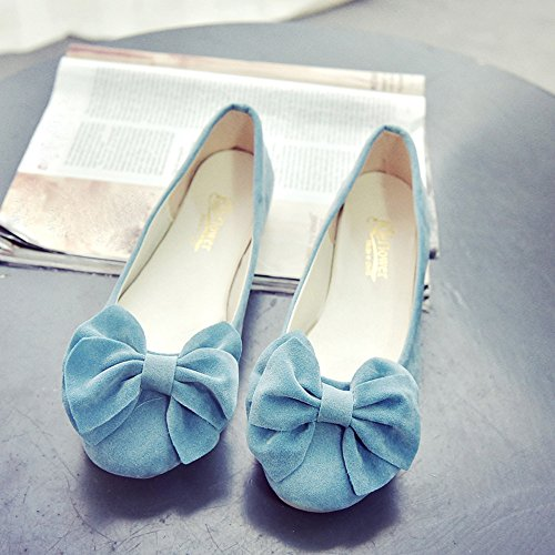 Longra Donne Bow mocassino-Gommino Blu