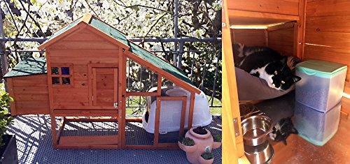 Hühnerstall mit Freilauf und Nistkasten Fichtenholz 171 x 66 x 120 cm Gitter und Kotwanne verzinkt - 5