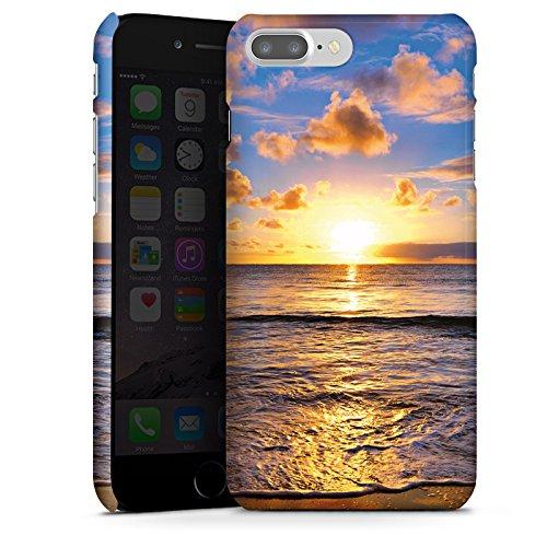 Apple iPhone X Silikon Hülle Case Schutzhülle Sonnenuntergang Meer Wolken Premium Case glänzend