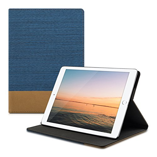 Apple iPad Air 2 - Tabletcover Slim Case Tablet Schutzhülle - Smart Cover Tabletcase Blau Braun ()