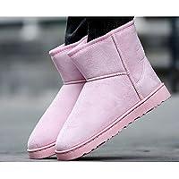 ZHZNVX Hsxz pour femme Chaussures PU Comfort Bottes d'hiver pour décontracté Vert Marron Gris Noir, gris, US8/EU39/UK6/CN39