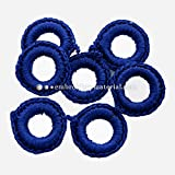 #2: Crochet Rings For Embroidery and Craft Purpose,Blue Color,100 Pieces,18MM
