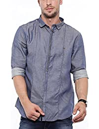[Sponsored]SHOWOFF Mens Blue Solid Casual Shirts
