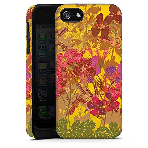 Apple iPhone X Silikon Hülle Case Schutzhülle Sonnig Blumen Muster Tough Case matt