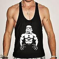 Stormtrooper camiseta Stringer gimnasio Bodybuilding y-Back espalda cruzada Golds, large