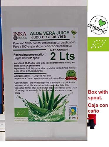 Aloe Vera Gel-paket (Pure Saft von Aloe Vera - 100% natürlich und organisch. 2 Liter Familie)